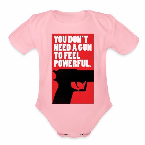 Gun Gun - Organic Short Sleeve Baby Bodysuit
