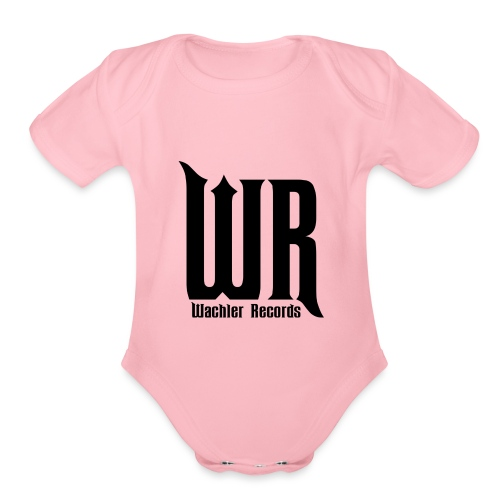 Wachler Records Dark Logo - Organic Short Sleeve Baby Bodysuit