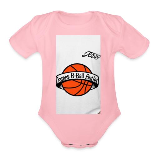 JamesBBallButler - Organic Short Sleeve Baby Bodysuit