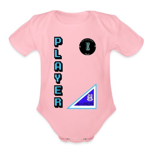 Guerrero Gamer, Warrior gamer - Organic Short Sleeve Baby Bodysuit