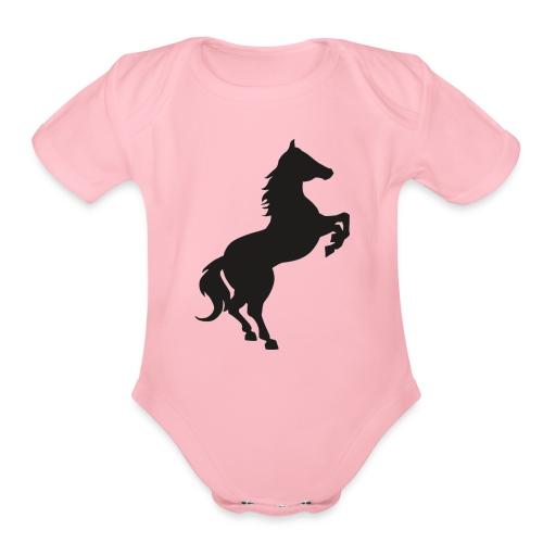 horse - Organic Short Sleeve Baby Bodysuit