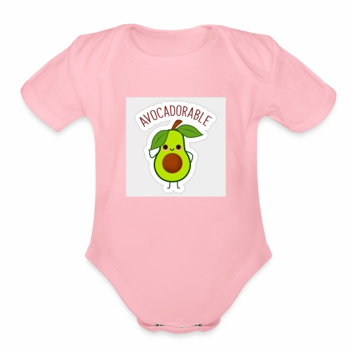 Avocadorable - Organic Short Sleeve Baby Bodysuit