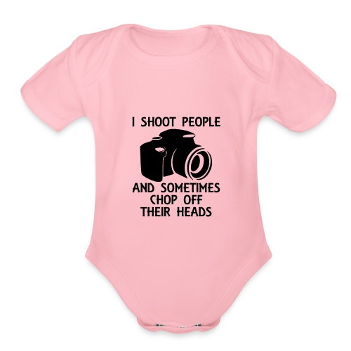 Photography Shoot People Cut Off Face - Organic Short Sleeve Baby Bodysuit