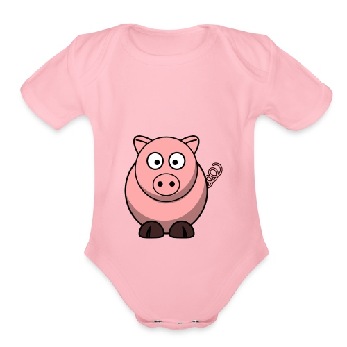 Little Piggy - Organic Short Sleeve Baby Bodysuit
