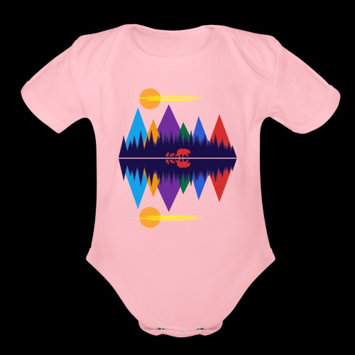 Bear and Cubs - Organic Short Sleeve Baby Bodysuit