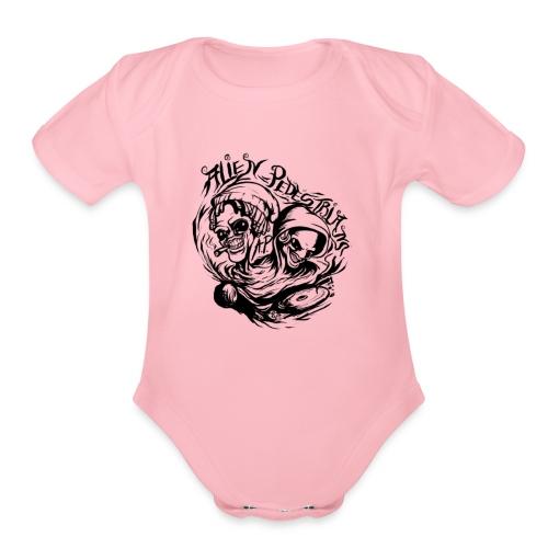 AP logo 003 - Organic Short Sleeve Baby Bodysuit