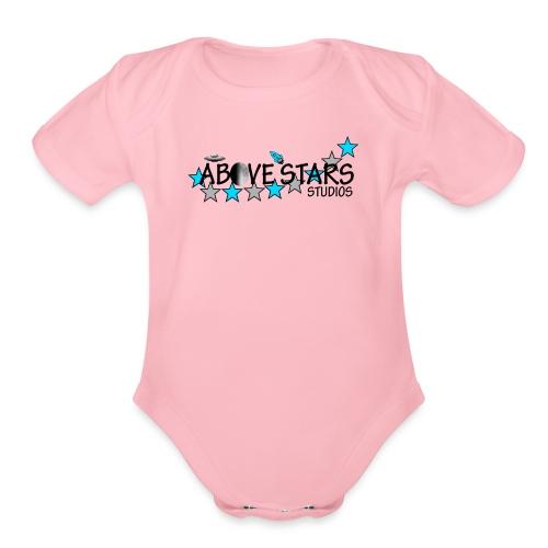 Above Stars studios - Organic Short Sleeve Baby Bodysuit