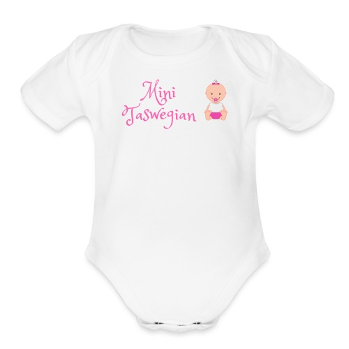 Girls Mini Taswegian - Organic Short Sleeve Baby Bodysuit