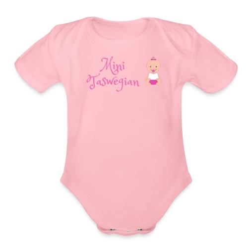 Girls Mini Taswegian - Organic Short Sleeve Baby Bodysuit