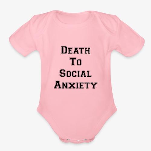 Death To Social Anxiety OG - Organic Short Sleeve Baby Bodysuit