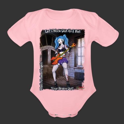 Zombie Bassist Full - Organic Short Sleeve Baby Bodysuit