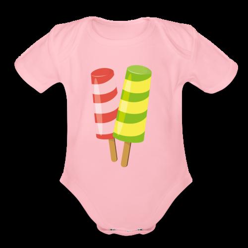 design-05 - Organic Short Sleeve Baby Bodysuit