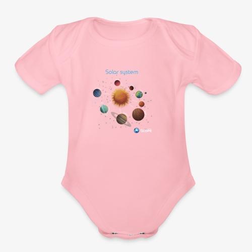 Solar System Scope : Solar System - Organic Short Sleeve Baby Bodysuit