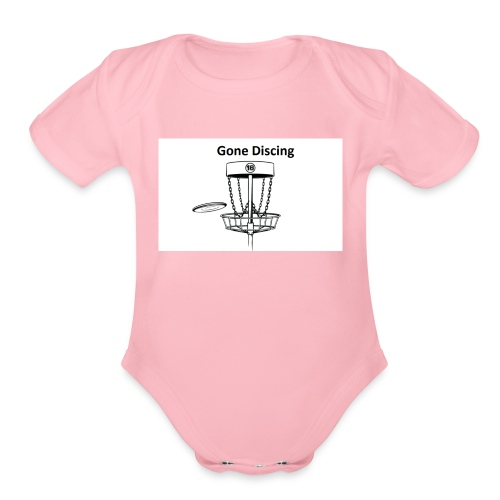 gone_discing - Organic Short Sleeve Baby Bodysuit