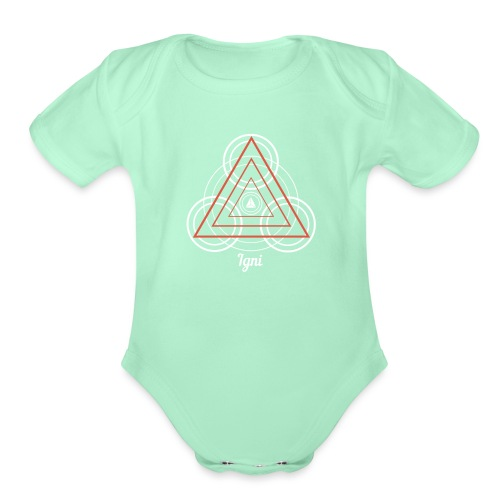 Igni Fire Element Alchemy Diagram - Organic Short Sleeve Baby Bodysuit