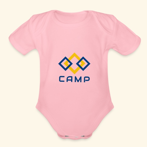 CAMP LOGO and products - Organic Short Sleeve Baby Bodysuit