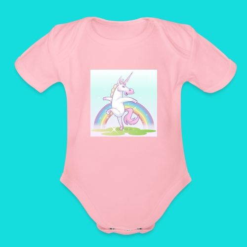 Sparkle Unicorn - Organic Short Sleeve Baby Bodysuit