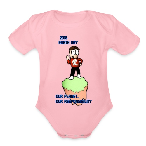 Earth day R3KT #ProtectThePlanet - Organic Short Sleeve Baby Bodysuit