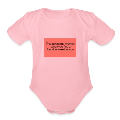 friends - Organic Short Sleeve Baby Bodysuit