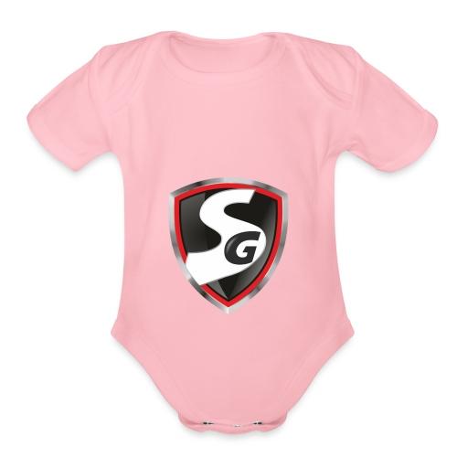 Original SimboiiGamer Logo - Organic Short Sleeve Baby Bodysuit
