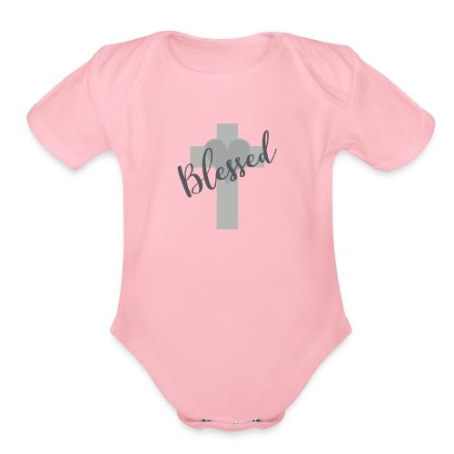 Blessed Heart - Organic Short Sleeve Baby Bodysuit