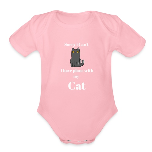 Describe You are a Cat Lover T Shirt - Organic Short Sleeve Baby Bodysuit