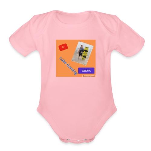 Luke Gaming T-Shirt - Organic Short Sleeve Baby Bodysuit