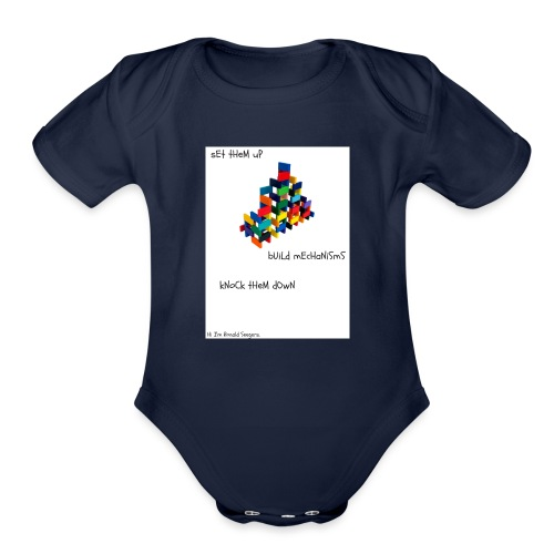 Hi I'm Ronald Seegers Collection-dominoes - Organic Short Sleeve Baby Bodysuit