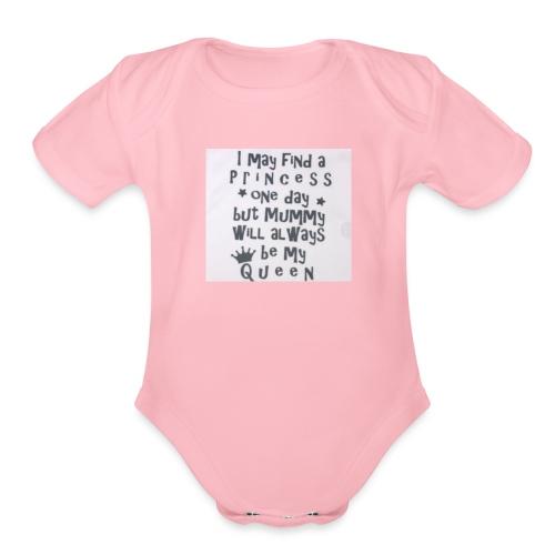 my princess - Organic Short Sleeve Baby Bodysuit