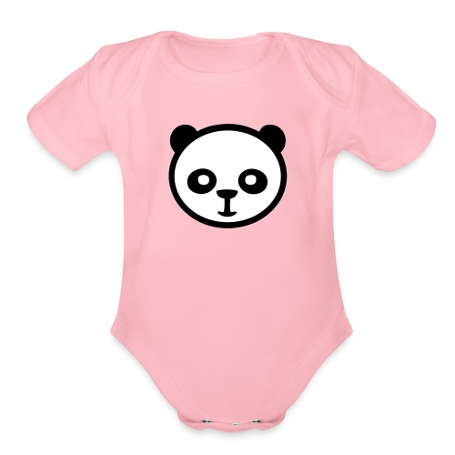 Panda bear, Big panda, Giant panda, Bamboo bear - Organic Short Sleeve Baby Bodysuit