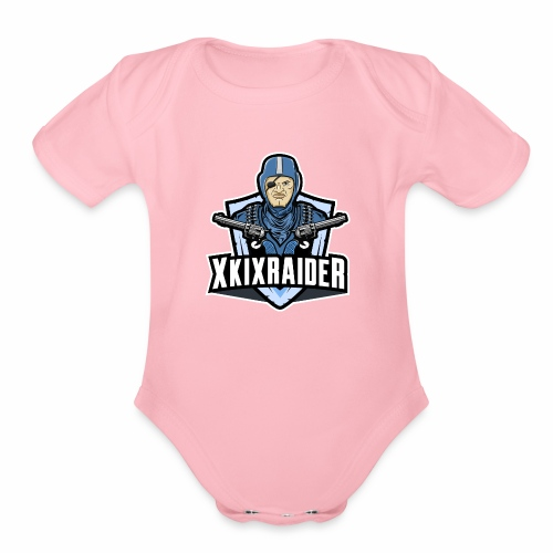 ki raider fam - Organic Short Sleeve Baby Bodysuit