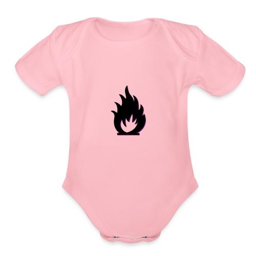 cute fire symbol - Organic Short Sleeve Baby Bodysuit
