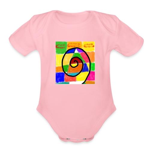 four seasons - Organic Short Sleeve Baby Bodysuit