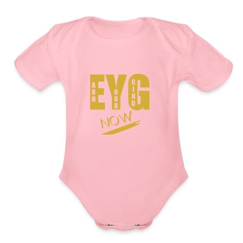 eygnowgo - Organic Short Sleeve Baby Bodysuit