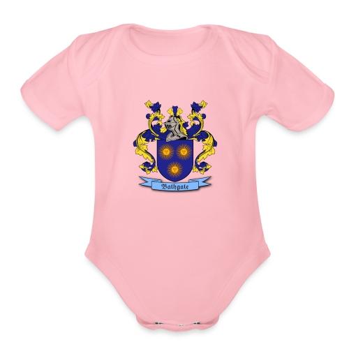Bathgate Family Crest - Organic Short Sleeve Baby Bodysuit