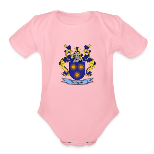 Bathgate Family Crest - Organic Short Sleeve Baby Bodysuit