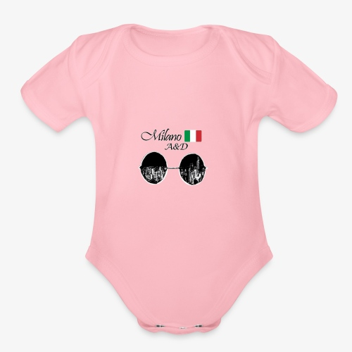 milano products - Organic Short Sleeve Baby Bodysuit