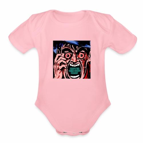 Terror Face - Organic Short Sleeve Baby Bodysuit
