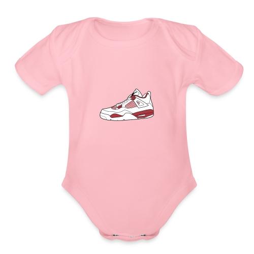 jordan 4 alt png - Organic Short Sleeve Baby Bodysuit
