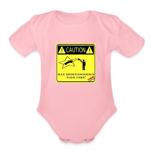 TALK_CARS - Organic Short Sleeve Baby Bodysuit