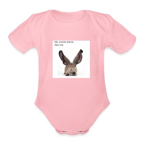Drama Meme - Organic Short Sleeve Baby Bodysuit