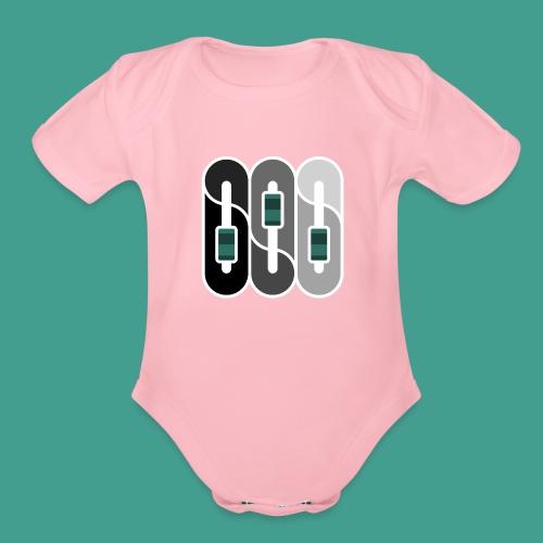 Silverman Sound Studios Logo - Organic Short Sleeve Baby Bodysuit