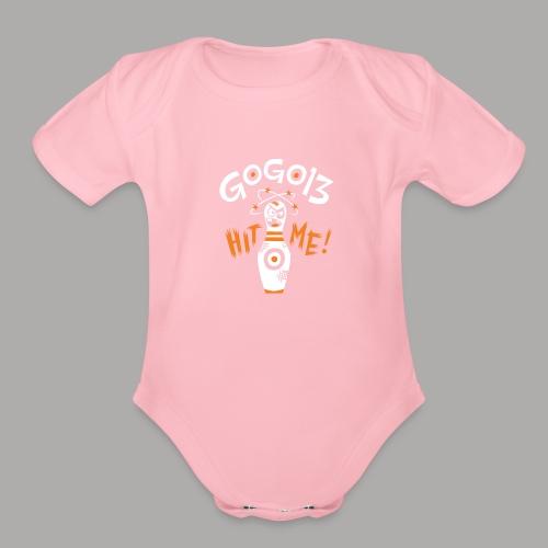 GOGO13 Hit Me! - Organic Short Sleeve Baby Bodysuit