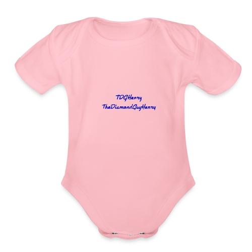 TDGHenryTheDiamondGuyHenry - Organic Short Sleeve Baby Bodysuit