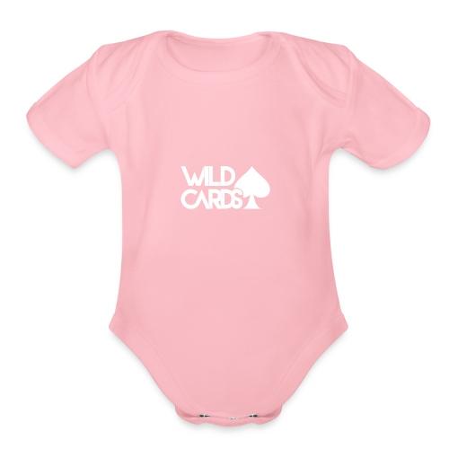 Black Wild Cards Hoodie - Organic Short Sleeve Baby Bodysuit