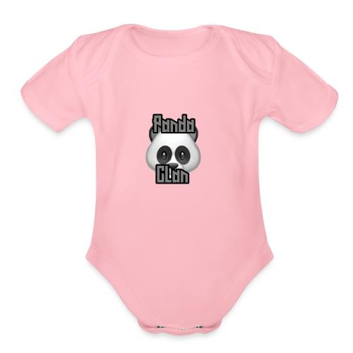 PandaClan - Organic Short Sleeve Baby Bodysuit