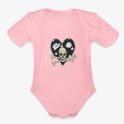 Pirate heart - Organic Short Sleeve Baby Bodysuit