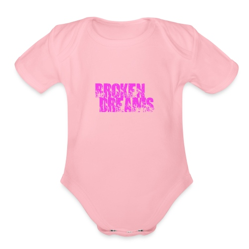 BROKEN DREAMS - Organic Short Sleeve Baby Bodysuit