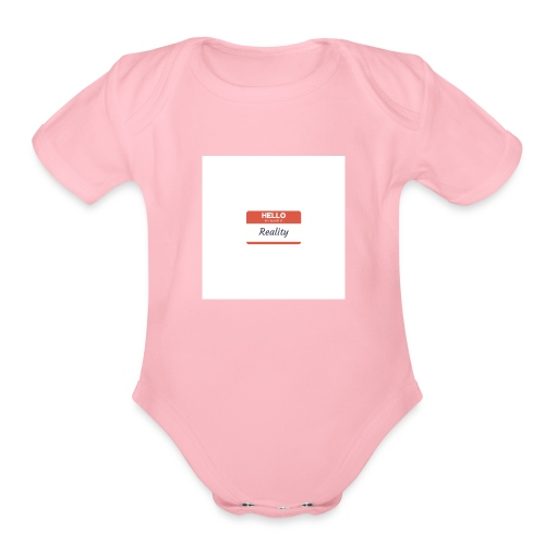 Let sGETReal - Organic Short Sleeve Baby Bodysuit