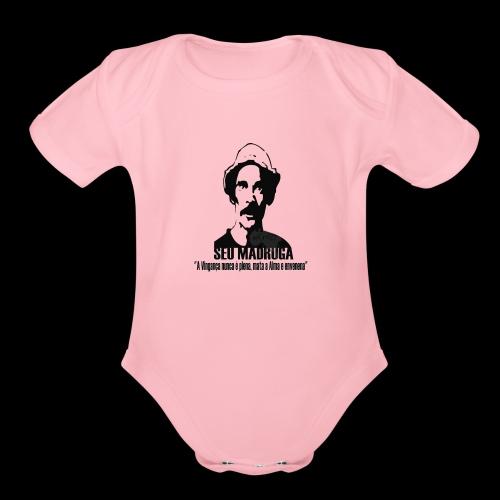 Camiseta seu madruga - Organic Short Sleeve Baby Bodysuit